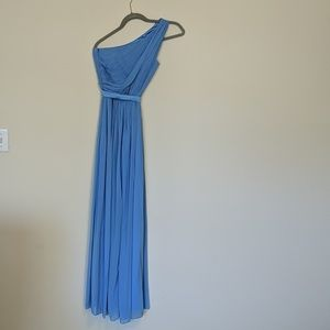Cornflower Blue Floor Length Formal Dress